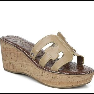 Sam Edelman Regis Wedged Sandal Nude Tan 7